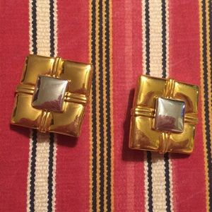 🚨3/$10🚨Vintage Clip-On Earrings Gold Square